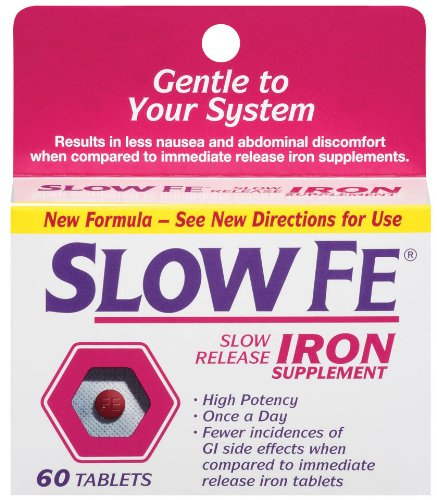 (Slow Fe Slow Release Iron Tablets, 60 Count)