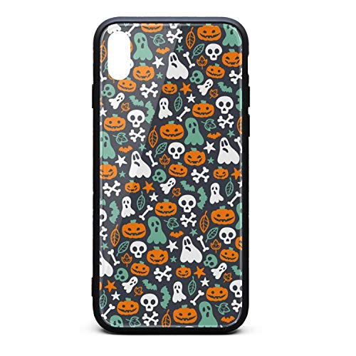 Phonerebey iPhone Xs Max Case,Funny Halloween Decor Anti-Scratch Shockproof Slim Cover Case Compatible with Apple iPhone Xs Max Case,TPU and Tempered Glass]()