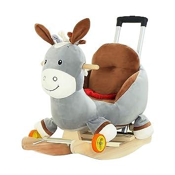 Caballitos de madera Caballo balancín para niños juguete de madera para caballos silla mecedora para niños