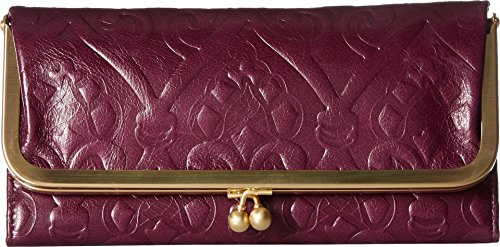 Hobo Womens Rachel Vintage Wallet Leather Clutch Purse (Embossed Eggplant)