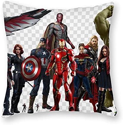 Marvel Heroes Kussen KussenPop ArtCanvas Kussensloop SingleZonder Vulkussen40x40cm alleen hoesje