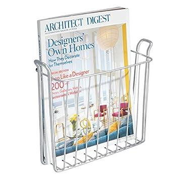 mDesign Revistero - Revistero pared para el baño, la cocina o la ...