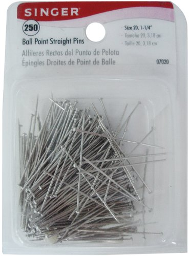 Singer Ball Point Straight Pins-Size 20 (Sew Jersey Knit)