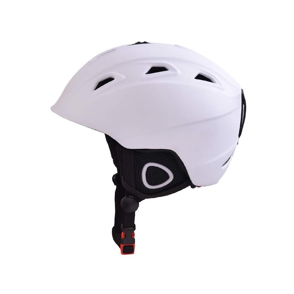 ヘルメット スキー&スノーボード用ヘルメット、スキー用保護安全帽スケートボードスケート用ヘルメット、調整可能なヘッドバンド(大人用、子供用、青年用) 白 XL