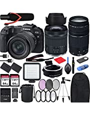 $1599 » Canon EOS RP with RF 24-105mm f/4-7.1 is STM Lens Mirrorless Camera Bundle + EF 75-300 is III, EF-EOS RP Mount Adapter, V30 Microphone, LED Light, Extra Battery and Accessories(Backpack and More)