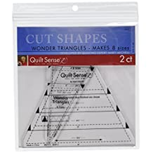 Dritz Quilt Sense Wonder Triangles Ruler, 8 Sizes