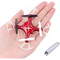 Syma X12S-G Micro Nano Drone Mini Quadcopter with Controller and Prop Guards RTF Easy for Beginners Red
