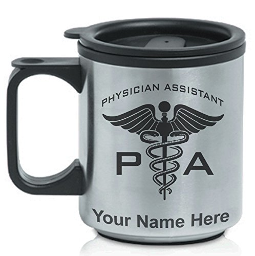 Coffee Travel Mug - PA Physician Assistant - Personalized Engraving Included (Mug Physician Coffee Assistant)