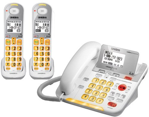 Uniden D3098 Corded - Cordless 1.9GHz DECT 6.0 Combo Telephone + 1 DCX309 Cordless Handset (Amplified)
