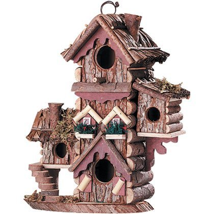 Gingerbread Style Birdhouse Avian Bird House Condo (Style Gingerbread Birdhouse)