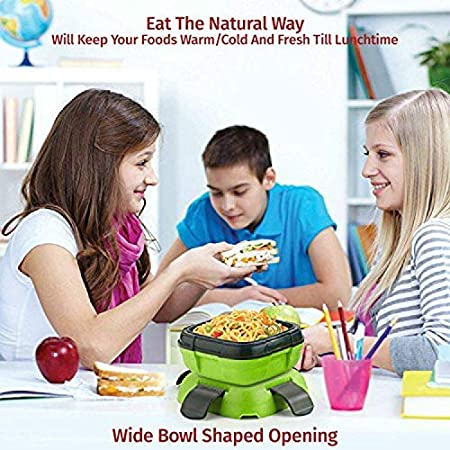 Blue, 16 oz, 16 oz Lunch Box ~ Pinnacle Insulated Leak Proof Lunch Box for Adults and Kids