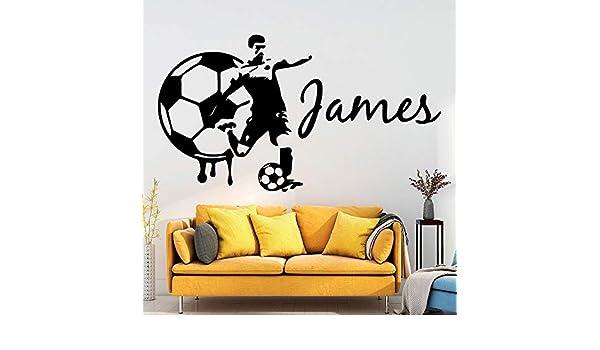 hetingyue Nombre Personalizado Fútbol Impermeable Etiqueta de ...