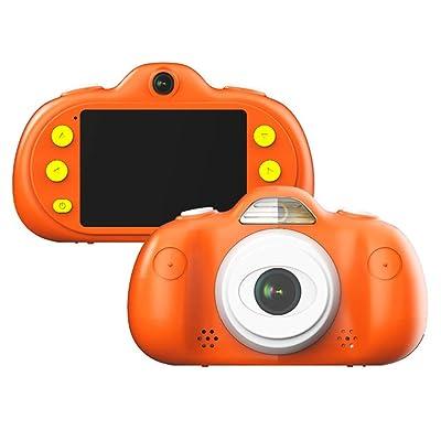 MELLRO Cámara para niños Niño Mini Cámara Cámara de Video Regalo Niña Niño Juguete Carcasa de Silicona (Color : Orange, Size : Naked Host): Hogar