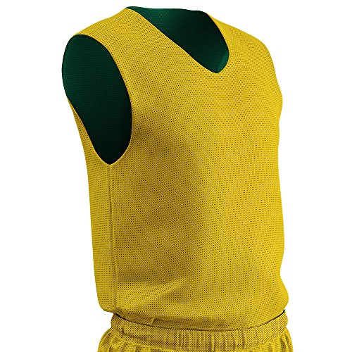 CHAMPRO Polyester Reversible Basketball Jersey - Youth Forest Green, Gold Youth L BBJPY BBJPYFGGOL