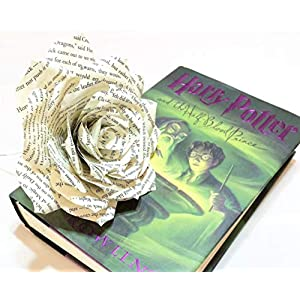 Paper Book Page Rose - Choose natural or colored tips 9