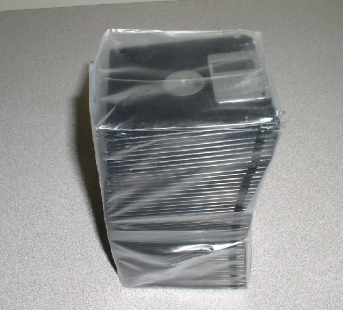 100PCS SALE 3.5'' HD DISKETTE, BLACK, HIGH CLIP, UNFORMATTED, COMMERCIAL DUPLICATION, DISK by LDB