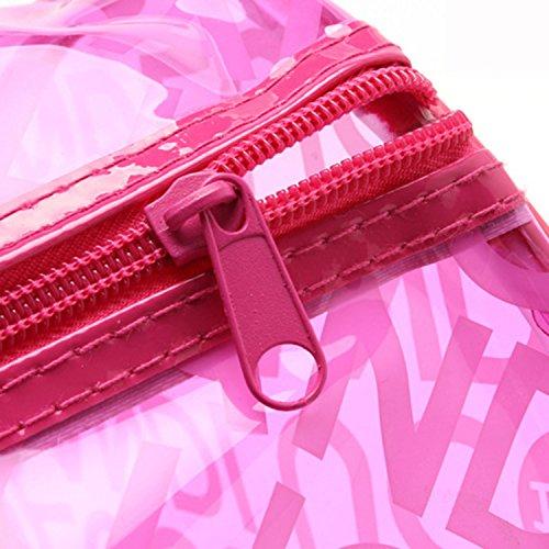 Impermeable Rojo Playa Bolsa Fitness de Moda Mano para Azul Bolso Panegy Deportes con Rosa Natación de Asas Transparente T4Envwx
