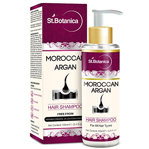 St.Botanica Moroccan Argan Hair Shampoo 100ml – Free from SLS, Paraben (With Silk Protein & Oils)