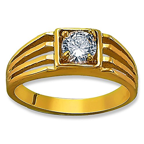 Rectangle Clear CZ 14K Yellow Gold Layered Baby Ring Sizes 2-5 (2) (Gold Rectangle Yellow Ring Baby)