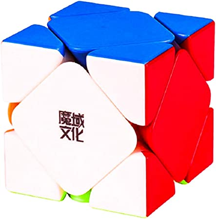 D ETERNAL YJ MoYu Skewb Rubik Rubix Rubic High Speed Sticker-Less Magic Twisty Puzzle Cube 3x3x3