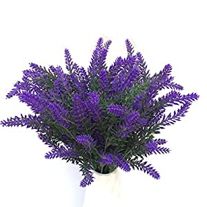 M Joy Artificial Lavender Bouquet, Artificial Flowers for Wedding, Home, Garden, Patio Decoration and Table Centerpieces 98