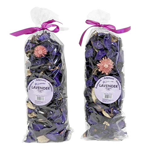 신선한 향기 꽃잎 포푸리 그릇과 꽃병 필러 홈 장식 2 큰 가방 120 그램 각(라벤더)