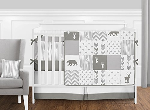 Sweet Jojo Designs Grey and White Wood Grain Wallpaper Wall Border for Woodsy Collection by by Sweet Jojo Designs (Image #1)