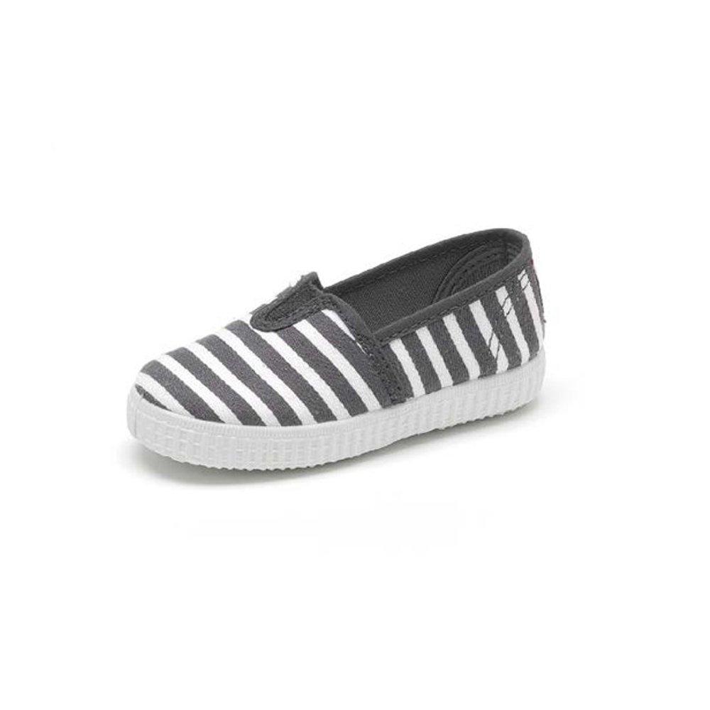 Zapatillas camping de lona Cienta de rayas grises y blancas.: Amazon.es: Zapatos y complementos