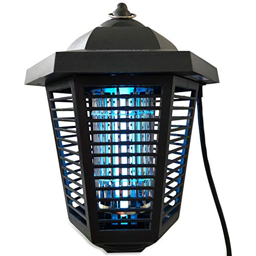 Nozkito Bug Zapper Lantern for Outdoor and Indoor Use. Mosquito and Insect Killer UV Lamp. Great for Backyard, Patio, Porch and Garden. Powerful 2000 Volt Grid. Weatherproof and Easy to Clean by Nozkito