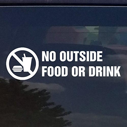 NO FOOD OR DRINK VINYL DECAL / STICKER FOR STORES BUSINESSES