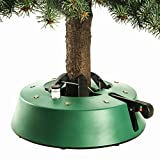 "InstaTree Large Fast & Easy Christmas Tree Stand – Holds tree up to 9 Feet Tall with 1.25"" to 4.25"" Diameter Trunk – Easy Foot Lever Operation Grip"