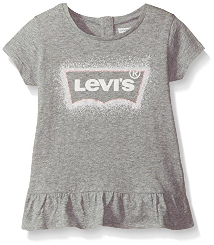 (Levi's Baby Girls' Graphic T-Shirt, marled grey 2T)