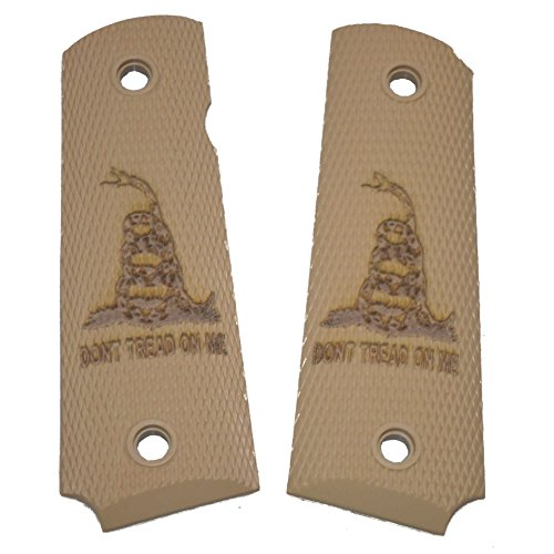 1911 Pistol Grip - Don't Tread on Me (Laser Engraved) (Tan)