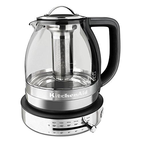 KitchenAid KEK1322SS 1.5L Electric Glass Tea Kettle