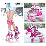 Otw-Cool Adjustable Roller Skates for Girls and