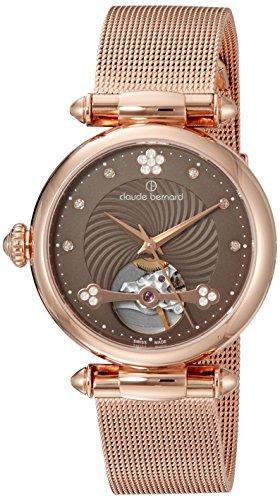 Claude-Bernard-Womens-85022-37RM-BRPR-Dress-Code-Analog-Display-Swiss-Automatic-Rose-Gold-Watch