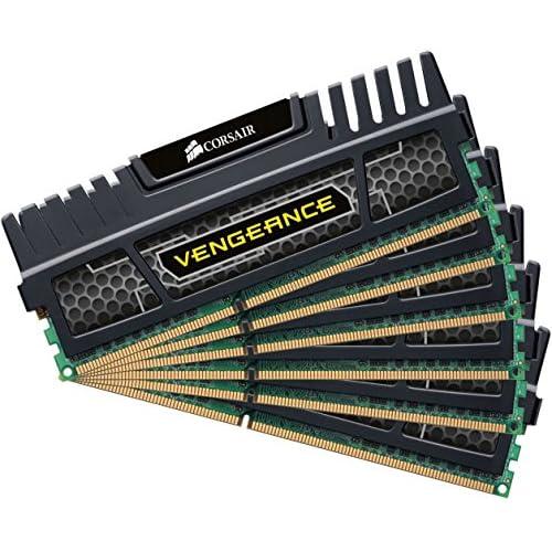 Corsair Vengeance CMZ24GX3M6A1600C9 Módulo de memoria XMP de alto rendimiento 24 GB 6 x 4GB DDR3 1600 MHz CL9 negro