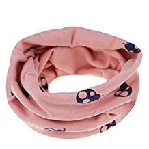 Cute Baby Toddler Infant Kids Girl Boy 100% Soft Cotton Autumn Winter Neck Warmer Snood/Gaiter Warm Round Wraps Infinity Scarf Neckerchief Loop Scarves Christmas Gift for Children Age 3 Months to 12Y