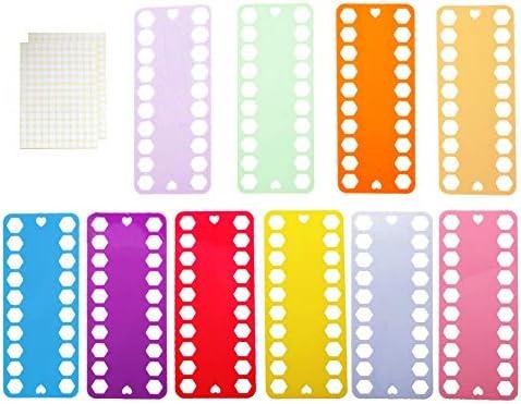 Organizador de hilo de bordar, 10 piezas de plástico de punto de cruz para almacenamiento de hilo + 2 etiquetas de etiqueta, tarjeta de proyecto de costura para bordado, color al azar: