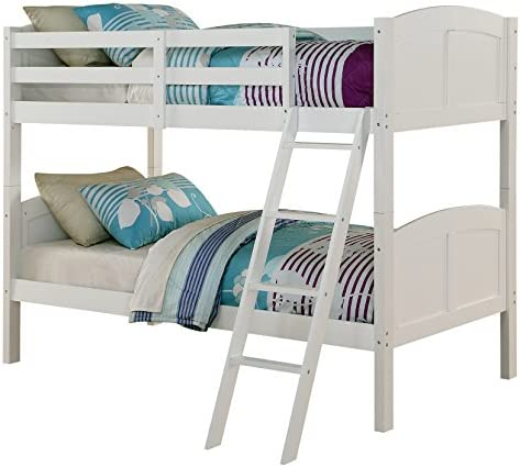 picture of Angel Line Creston Twin Over Twin Bunk Bed, White