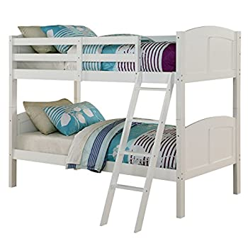 Image of Angel Line Creston Twin Over Twin Bunk Bed, White Home and Kitchen