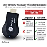 【FullFrame M9】【Dual Core】 Upgraded Wireless Wifi Display Dongle, Screen Mirror Dongle 1080P, Digital AV to HDMI Compatible with iOS/Android/Samsung/iPhone/iPad/Projector/TV/Mac/Window