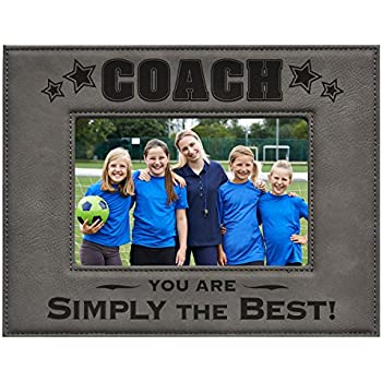 coach picture frame gray 5 x 7 engraved leatherette picture frame coach you - Engraved Frame
