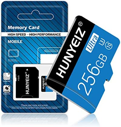 256GB Micro SD Card with Adapter,Class10 MicroSD Card for Nintendo Switch, Class 10 Memory Card for Android Smartphone Digital Camera Tablet and Drone