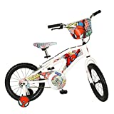 Street Flyers Amazing Spiderman Kid's Bike, 16 inch Wheels, Boy's Bike, White