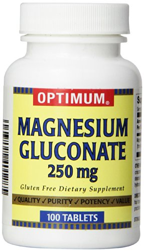 Optimum Magnesium Gluconate Tablets, 250 Mg, 100 Count