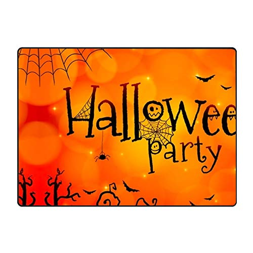 CFLY Halloween Paty Show Design Mat Slip Skid Resistant Rubber Back 31 × 20