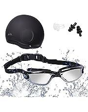 HiHiLL Fahrradbrille, Polarisierte Sport Sonnenbrille für Herren, Sportbrille mit 5 Austauschbaren Linsen und Unzerbrechlichen Rahmen mit Gummimatten zum Radfahren, Klettern, Sports, Fahren