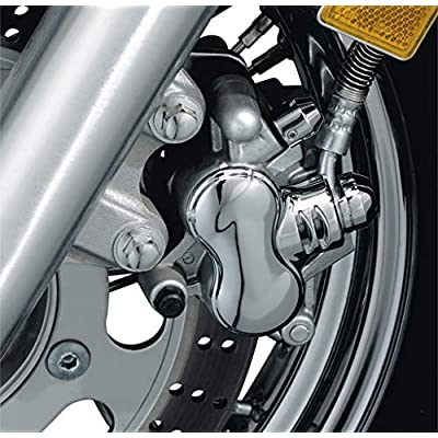 Kuryakyn 1294 Motorcycle Accent Accessory: Front Caliper Cover for Kawasaki, Suzuki, Yamaha Motorcycles, Chrome: Automotive