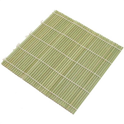 JapanBargain S-3155, Green Bamboo Sushi Roller Mat 9-1/2-inch Square